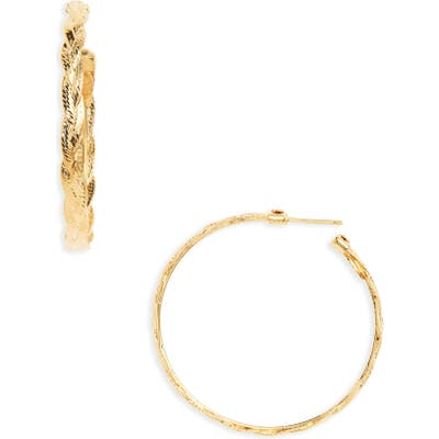 Gas Bijoux Medium Tresse Hoop Earrings