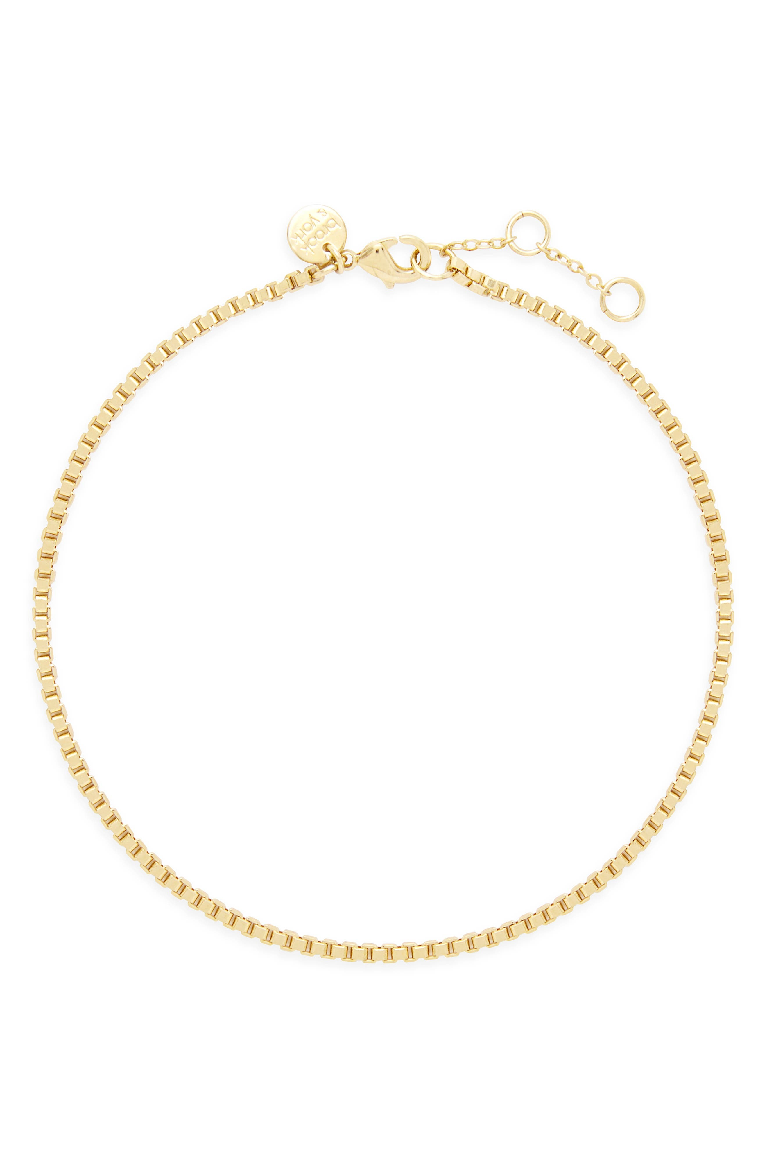Emma Box Chain Anklet