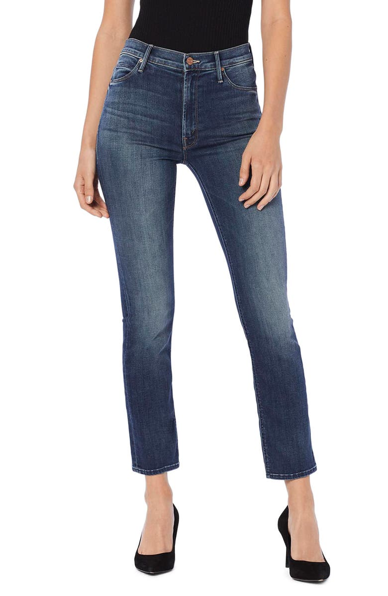 MOTHER The Dazzler Ankle Straight Leg Jeans, Main, color, 401