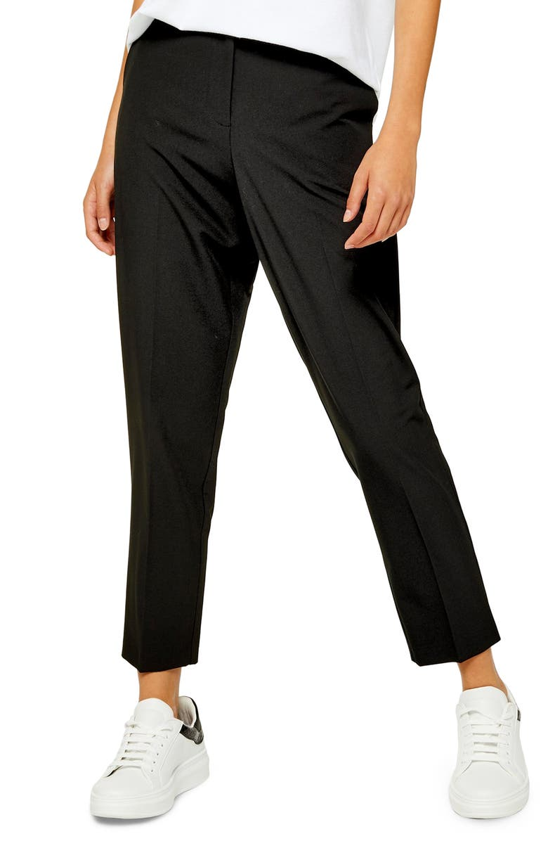 TOPSHOP Remi Suit Trousers, Main, color, BLACK