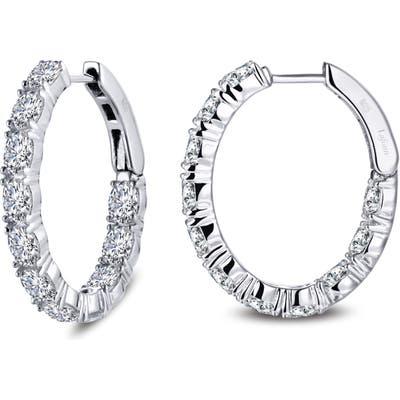 Lafonn Inside Out Simulated Diamond Oval Hoop Earrings