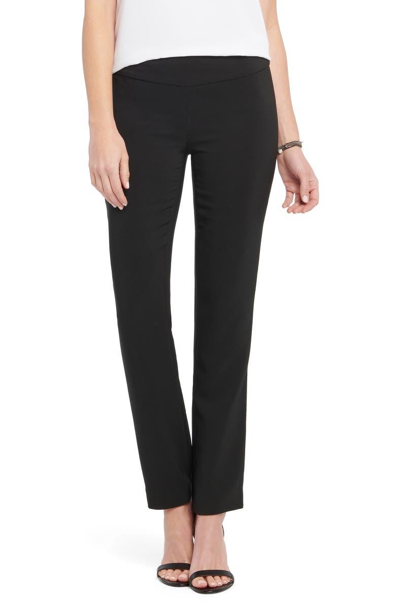 NIC+ZOE Dive In Straight Leg Pants, Main, color, BLACK ONYX