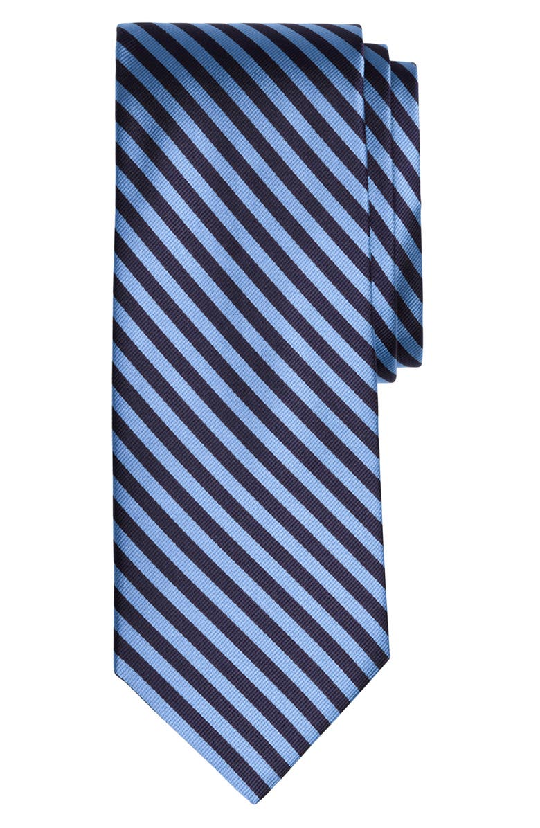 BROOKS BROTHERS Thin Stripe Silk Tie, Main, color, LIGHT/ PASTEL BLUE