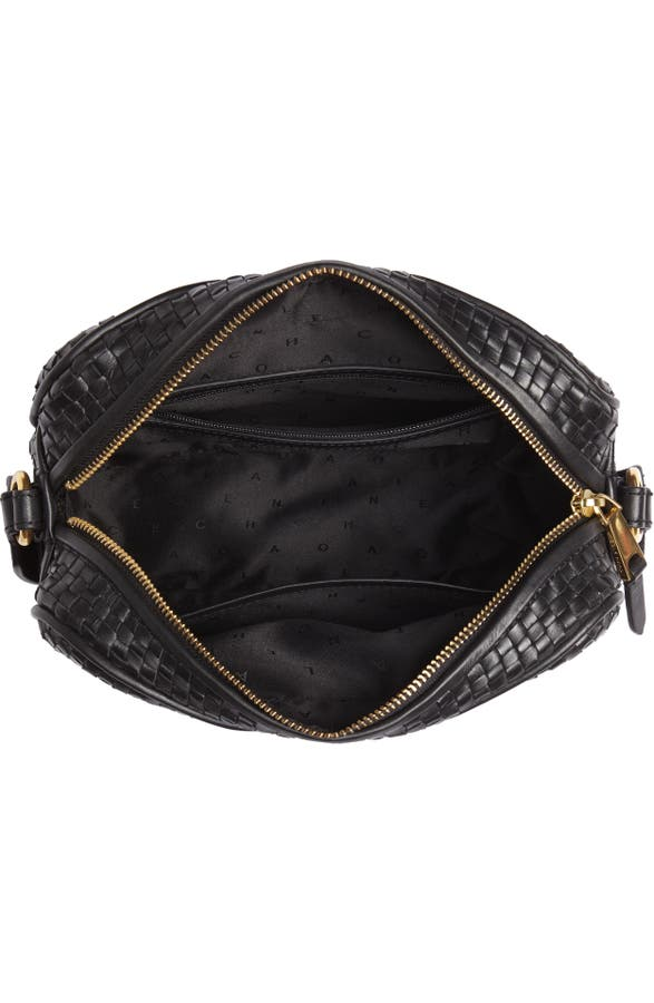 bdcb2ff394 Cole Haan Zoe RFID Woven Leather Camera Bag | Nordstrom
