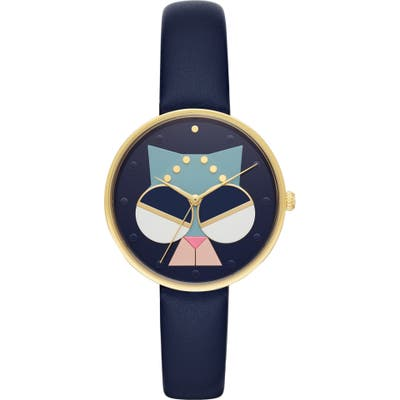 Kate Spade New York Metro Critter Leather Strap Watch,
