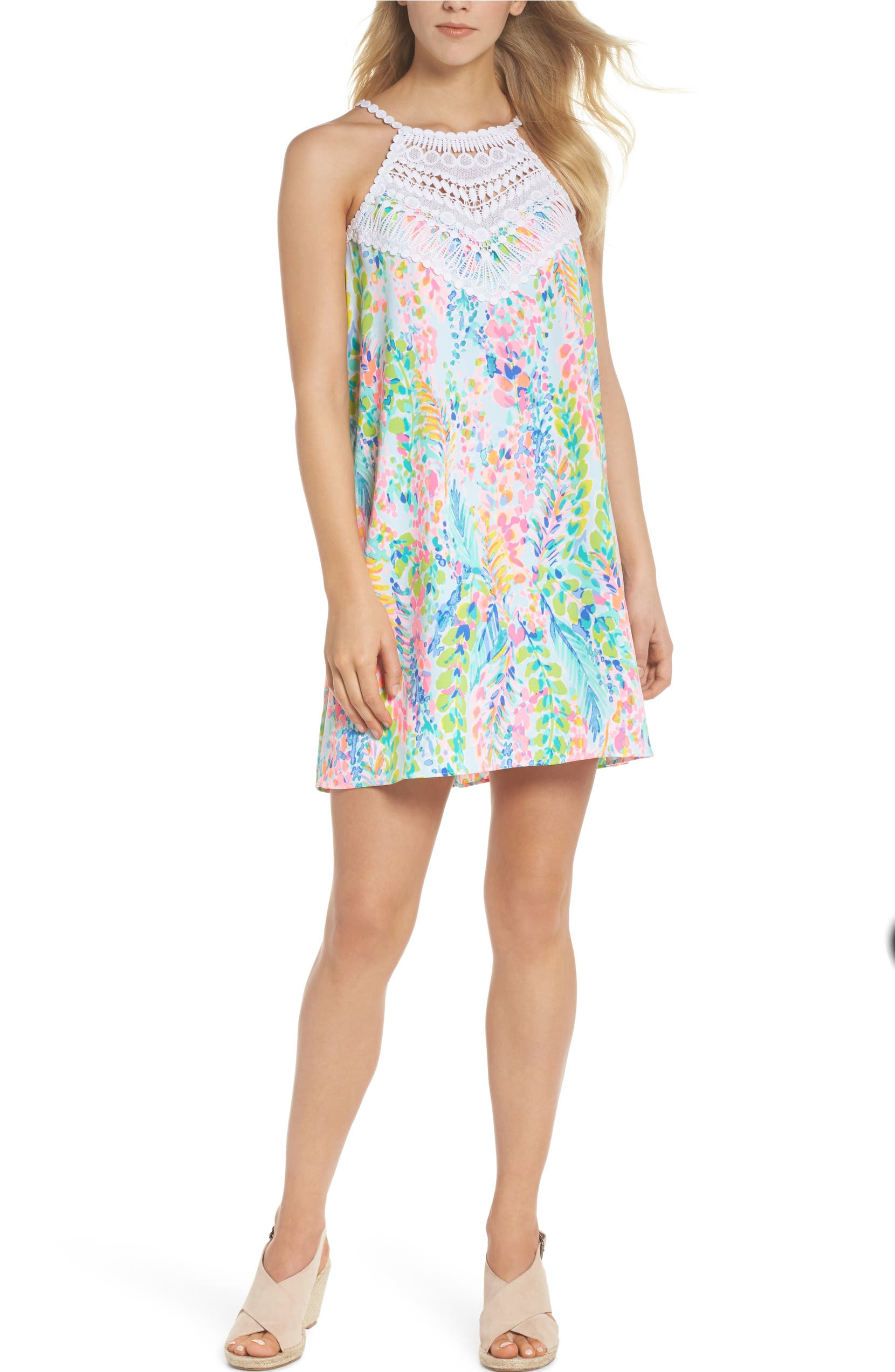 50be3d379ef45f Lilly Pulitzer® Pearl Soft Halter Shift Dress | Nordstrom