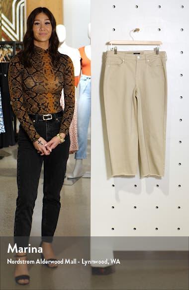 Wide Leg Fray Hem Capri Jeans, sales video thumbnail