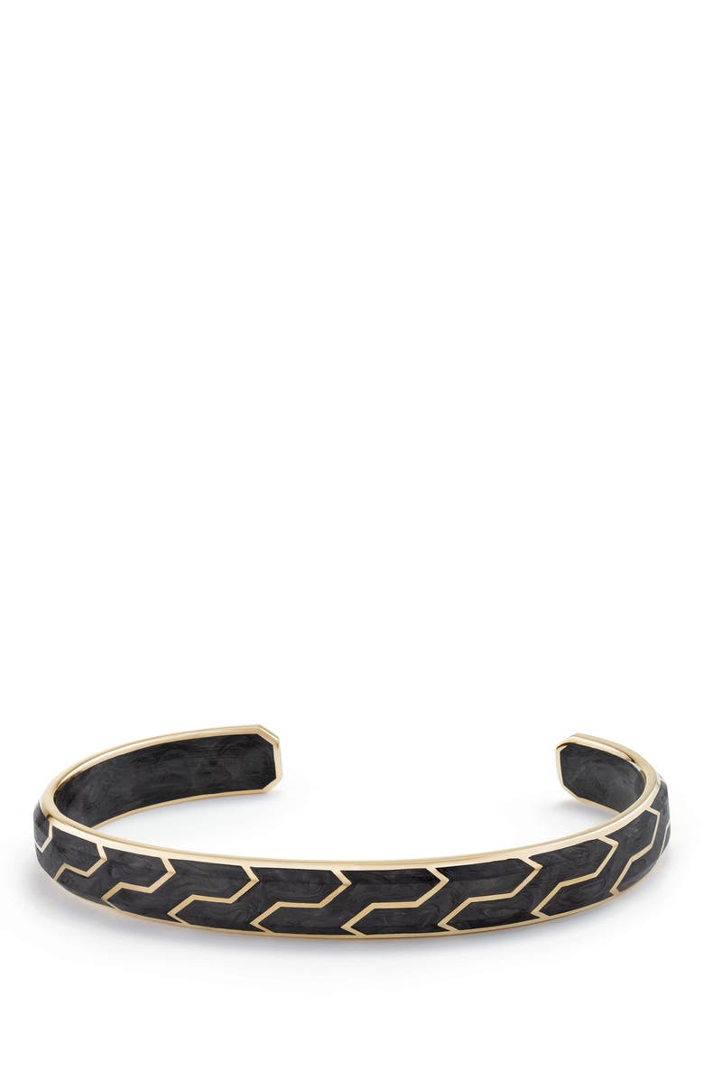 DAVID YURMAN Forged Carbon Cuff with 18K Gold, Main, color, FORGED CARBON?