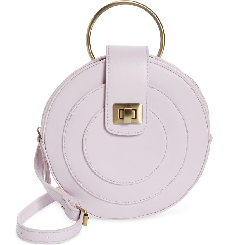MALIBU SKYE Faux Leather Canteen Crossbody Bag, Main, color, LAVENDER
