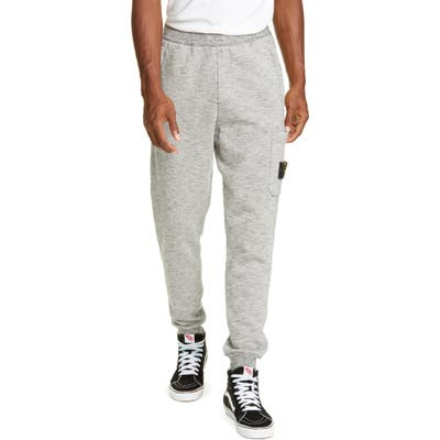Stone Island Melange Fleece Sweatpants, Grey