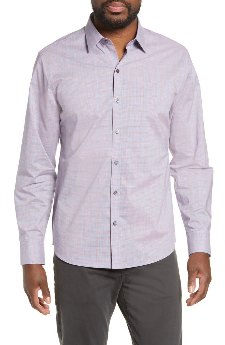 ZACHARY PRELL Buckland Regular Fit Sport Shirt, Main, color, 672