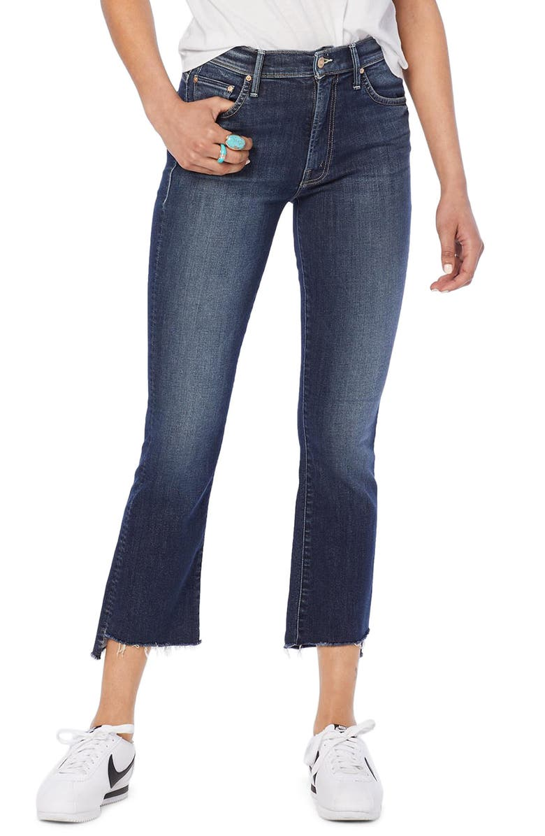 MOTHER The Insider Step Hem Crop Bootcut Jeans, Main, color, LOVE ON THE EDGE