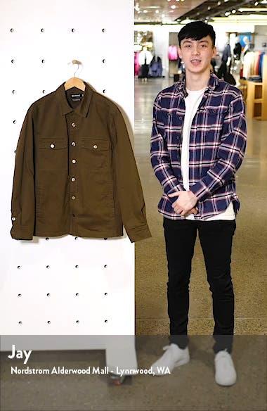 Regular Fit Cotton Shirt Jacket, sales video thumbnail