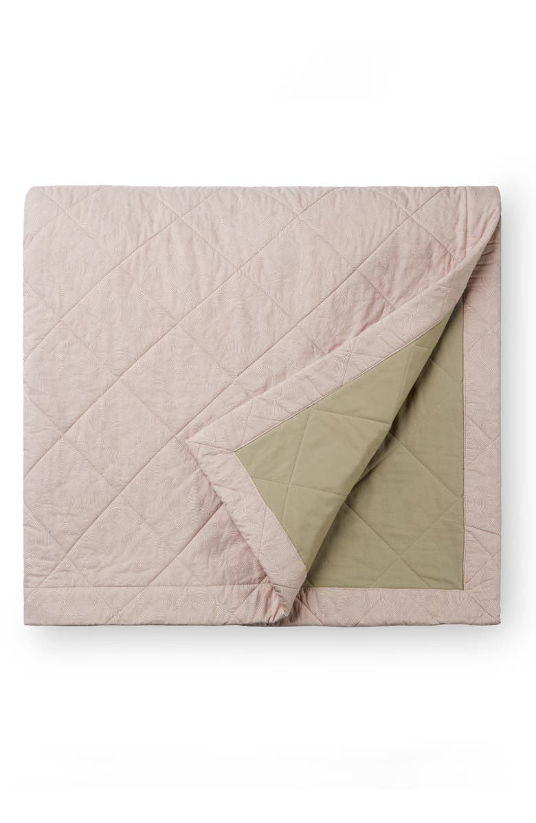 SFERRA Sinna Quilted Coverlet, Main, color, ROSE/TAUPE