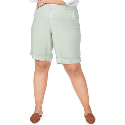 Plus Size Nydj Linen Bermuda Shorts