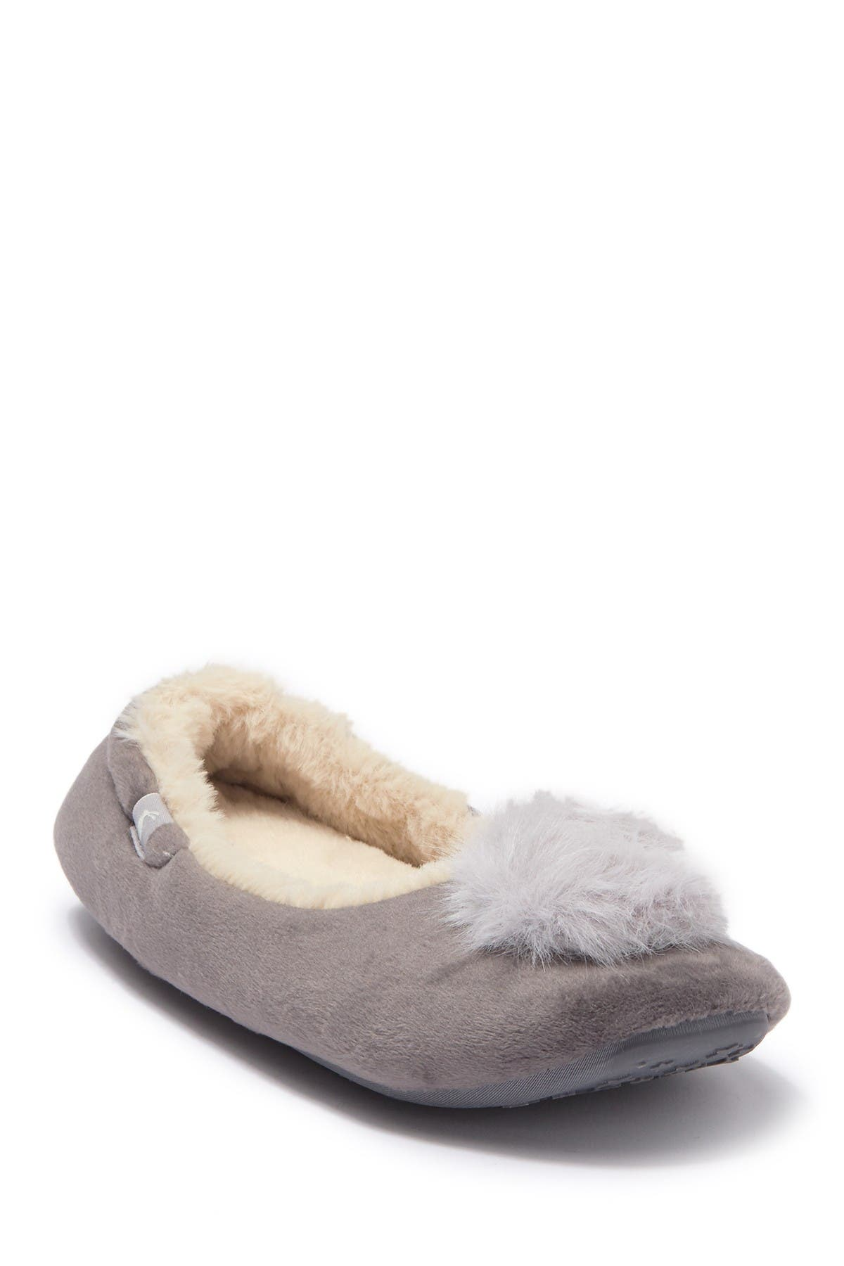 Image of Joules Pombury Faux Fur Ballet Slipper