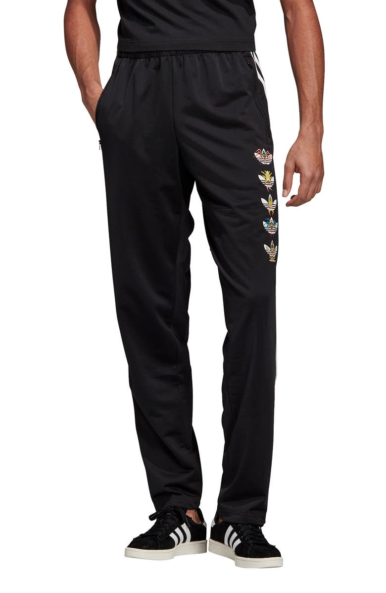ADIDAS ORIGINALS Tanaami Logo Track Pants, Main, color, BLACK