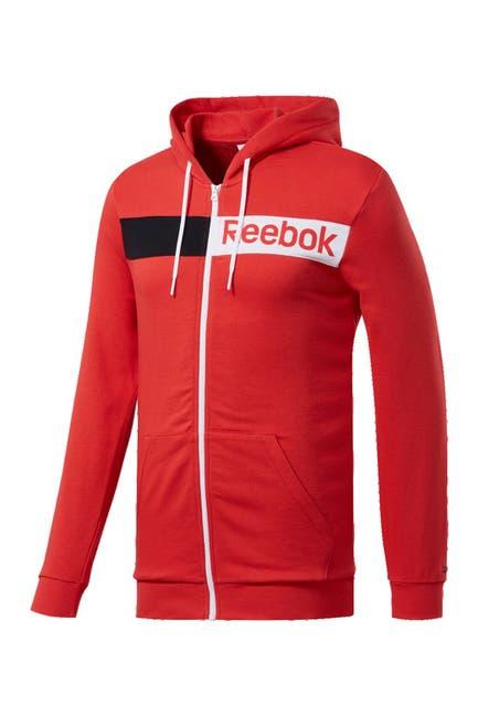 Image of Reebok Logo Zip French Terry Hoodie
