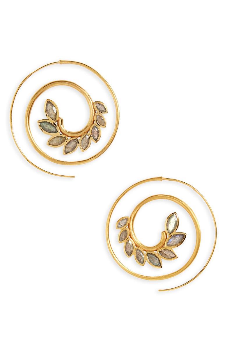 DEAN DAVIDSON Kamala Spiral Earrings, Main, color, 710