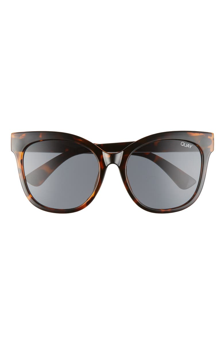 QUAY AUSTRALIA It's My Way 55mm Cat Eye Sunglasses, Main, color, TORTOISE/ SMOKE