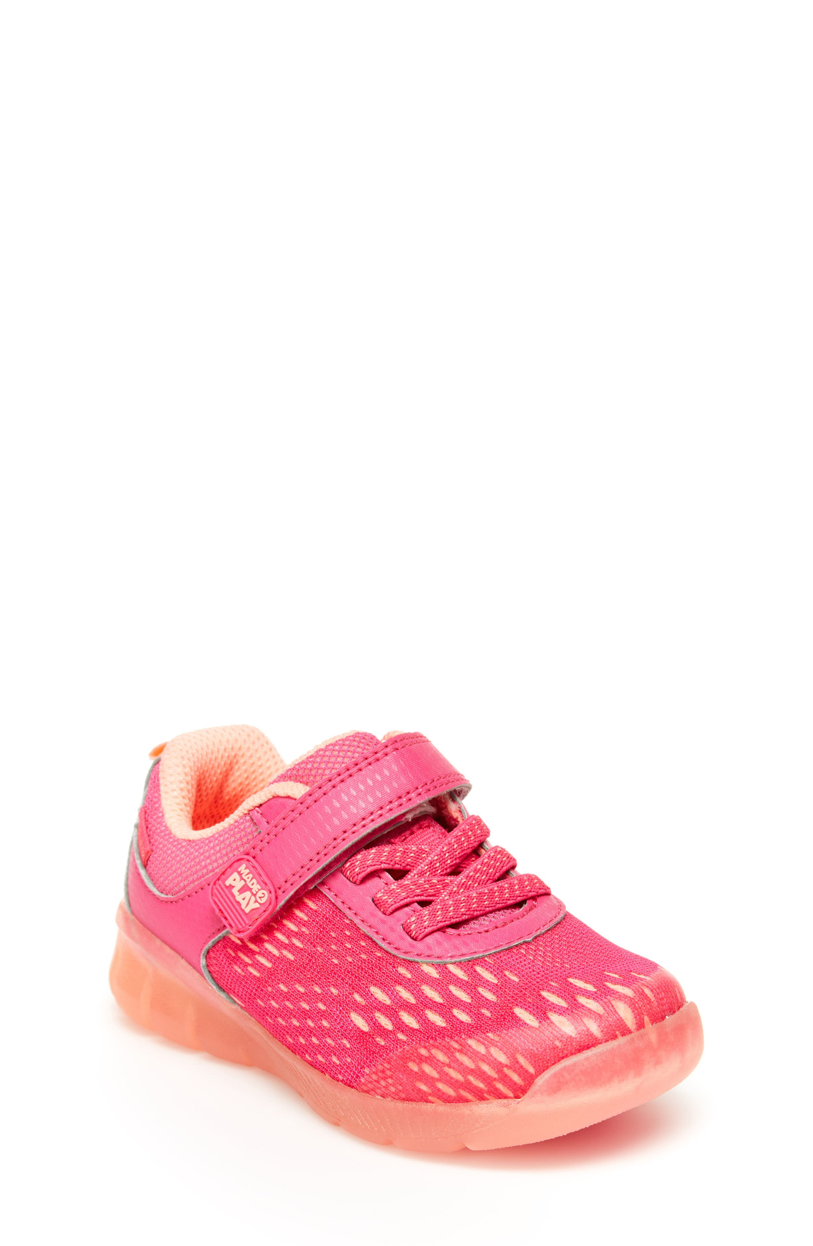 Stride Rite Unisex Boys and Girls Neo  Athletic Light-Up Mesh Sneaker