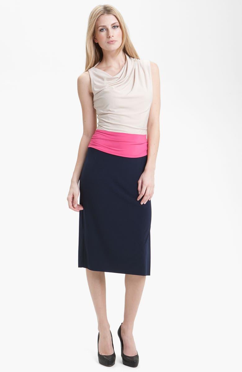 SUZI CHIN FOR MAGGY BOUTIQUE Draped Colorblock Jersey Dress, Main, color, 250