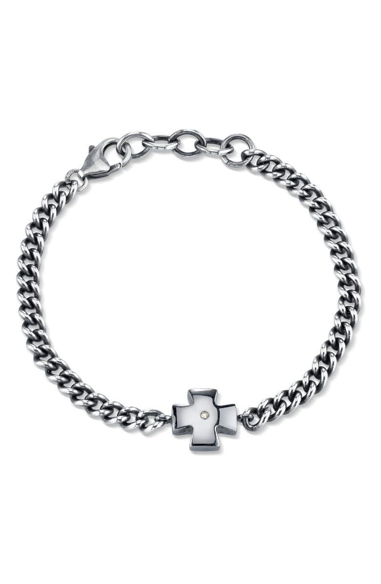SHERYL LOWE Diamond Chain Bracelet, Main, color, STERLING SILVER