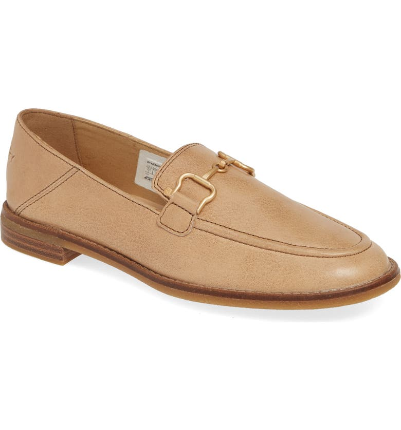 SPERRY Seaport Buckle Loafer, Main, color, TAN LEATHER