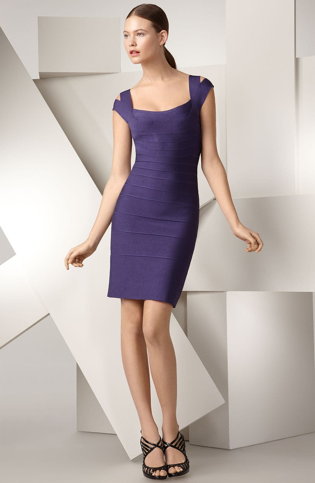 ,                             Double Strap Bandage Dress,                             Main thumbnail 1, color,                             447