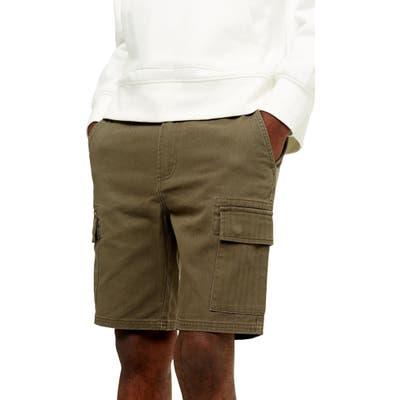 Topman Classic Cargo Shorts, Green