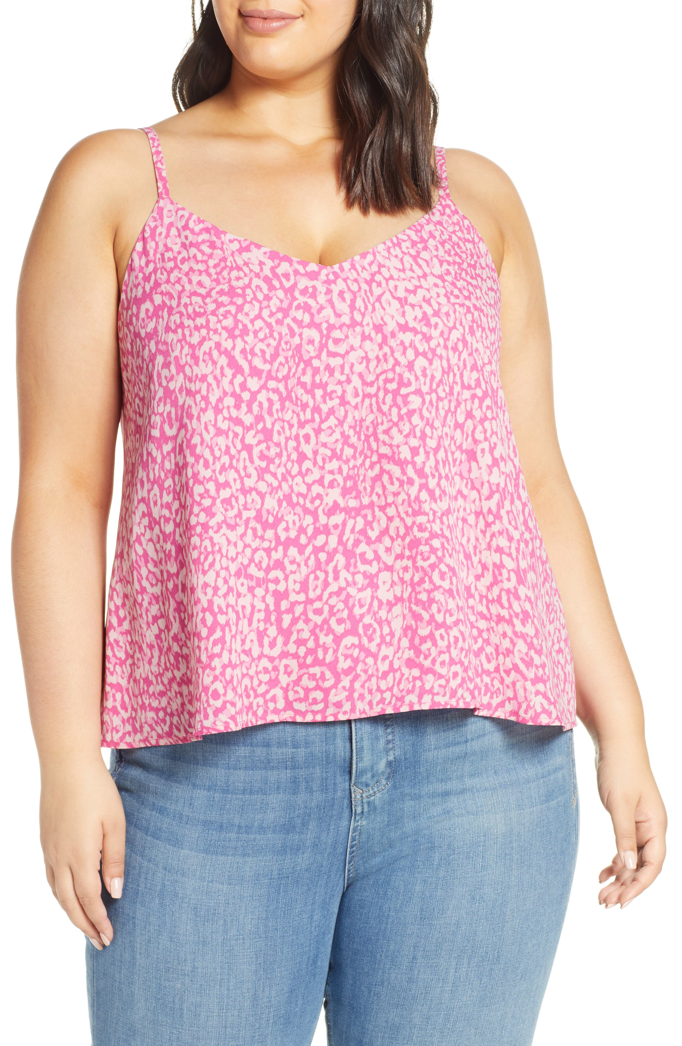 Plus Size Leith Animal Print Camisole, Pink