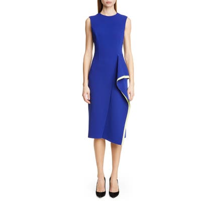 Jason Wu Collection Cascade Compact Crepe Day Dress, Blue
