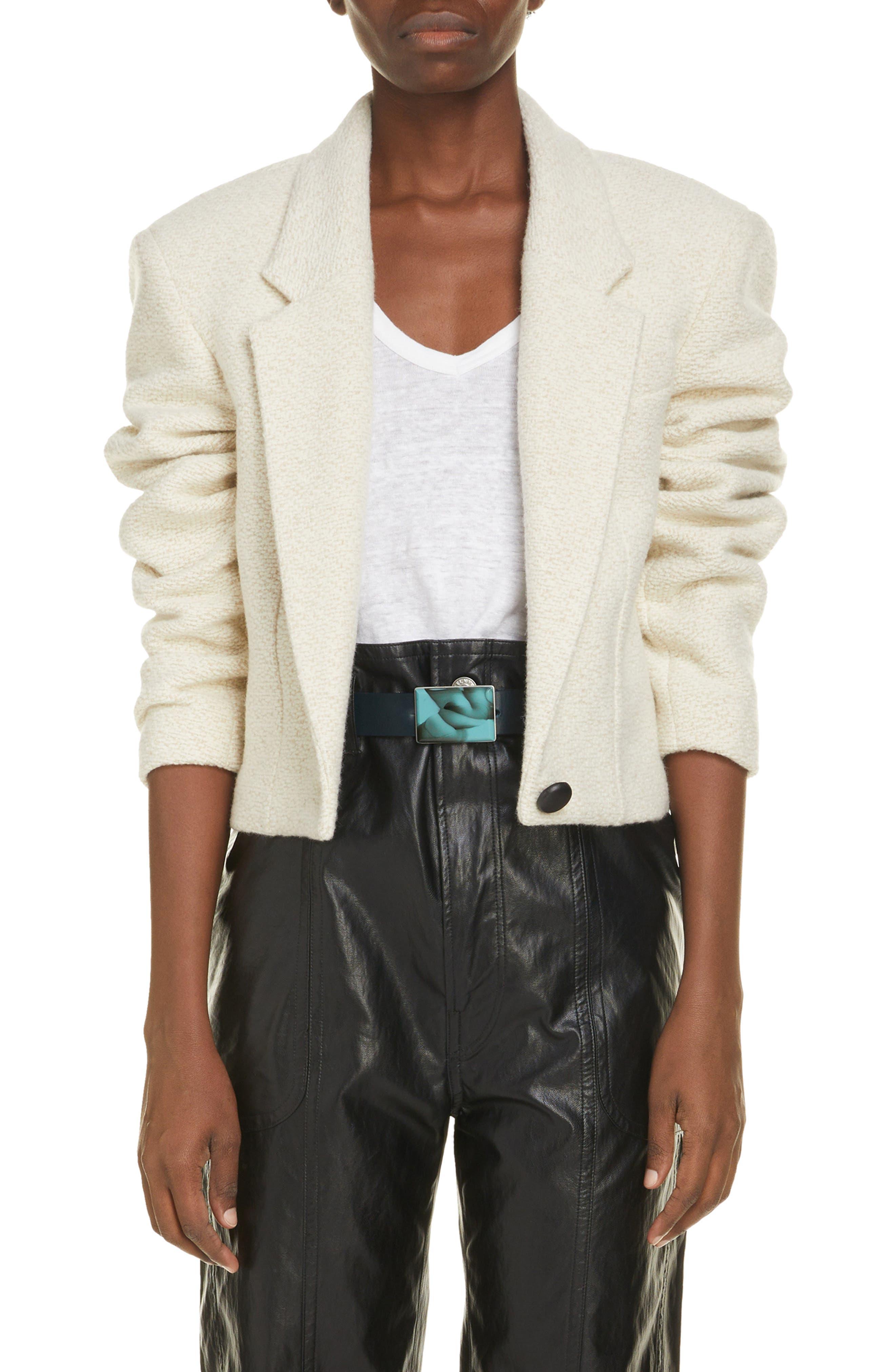 Women's Isabel Marant Etoile Maden Wool & Cotton Blend Jacket