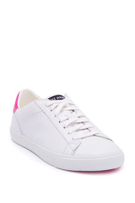 Image of Cole Haan Carrie Neon Trim Leather Sneaker