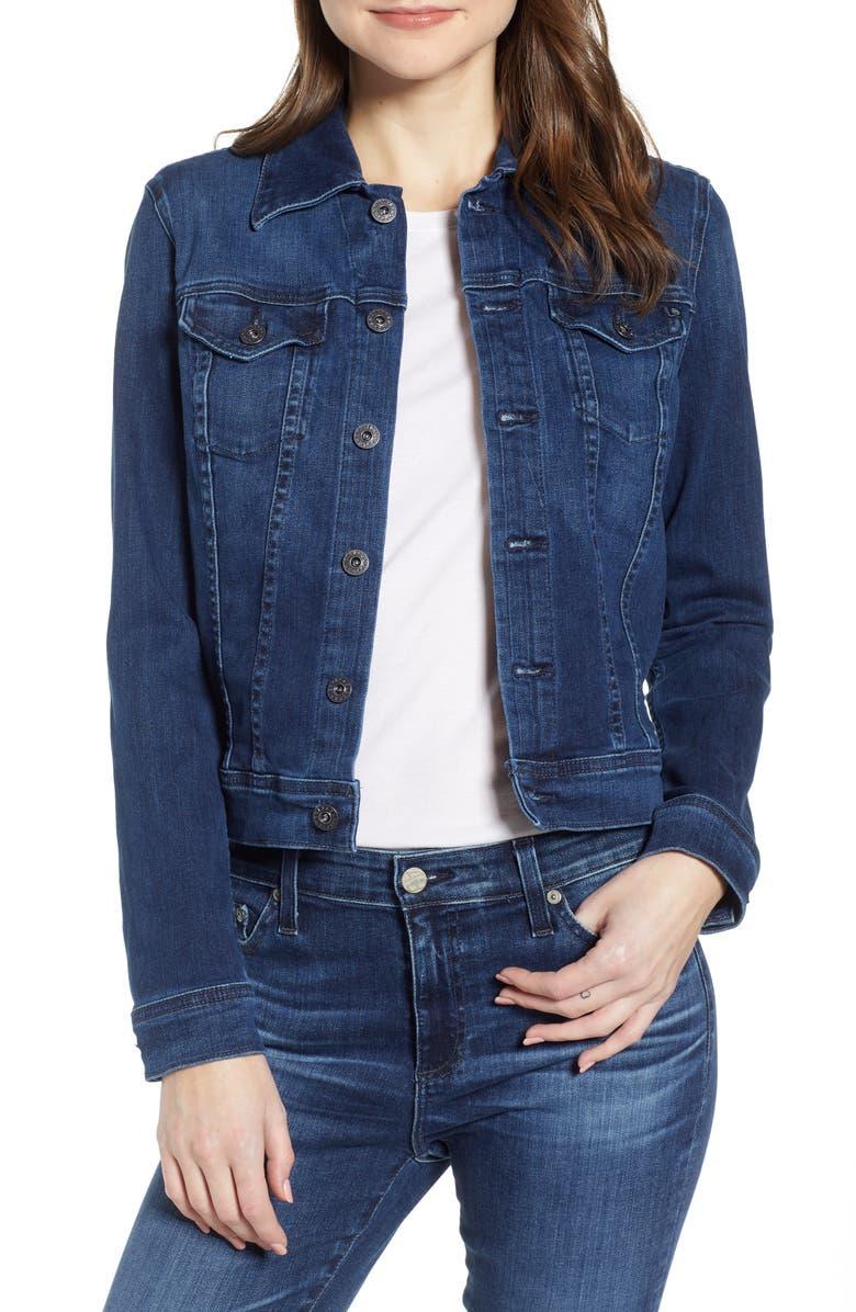 AG Robyn Denim Jacket, Main, color, PINNACLE BLUE