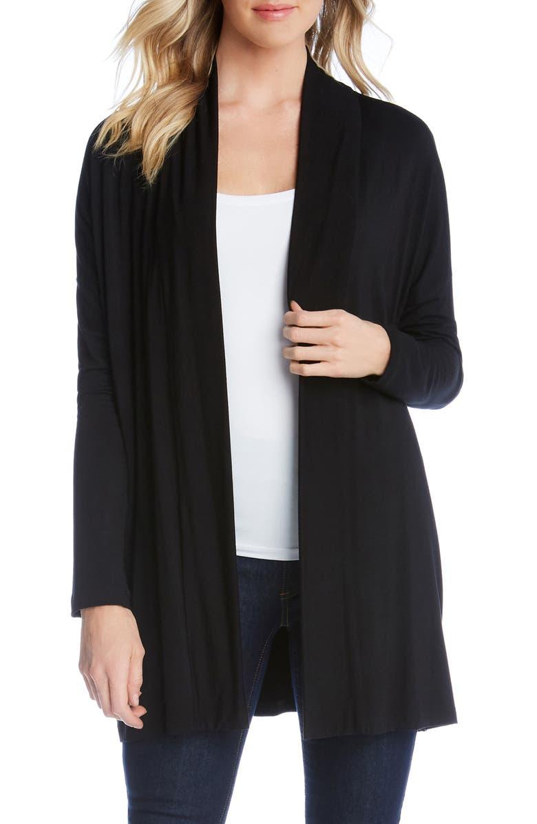 KAREN KANE Maya Convertible Cardigan, Main, color, BLACK
