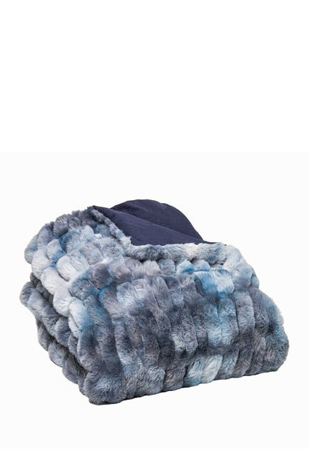 """Image of LUXE Faux Fur Throw - 50"""" x 60"""" - Cony Ice Blue"""