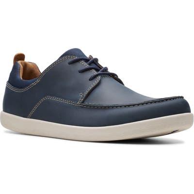 Clarks Un Lisbon Lace Up Sneaker- Blue