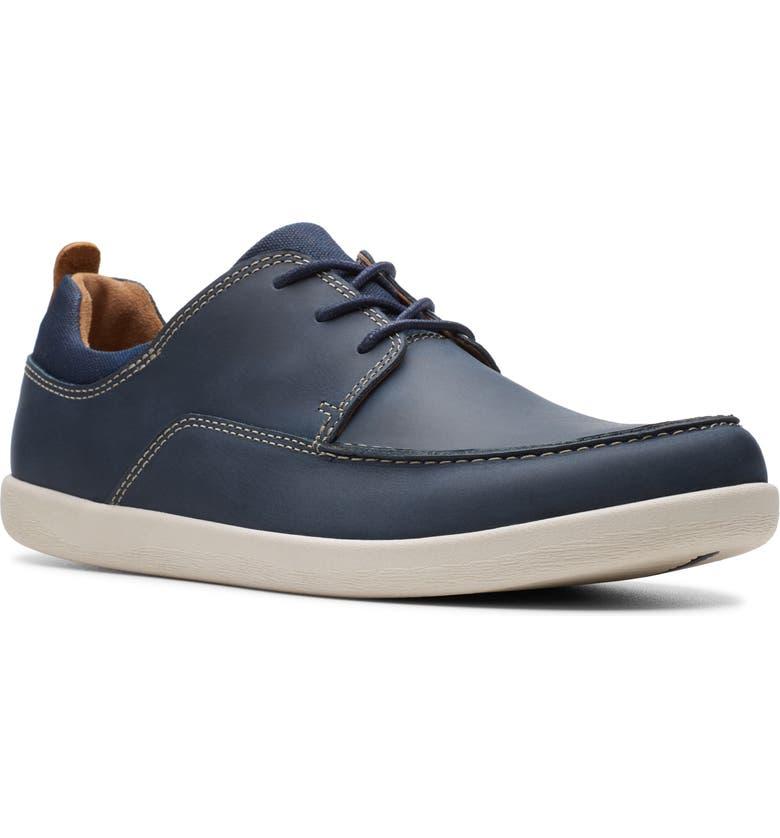 CLARKS<SUP>®</SUP> Un Lisbon Lace Up Sneaker, Main, color, NAVY LEATHER/ CANVAS