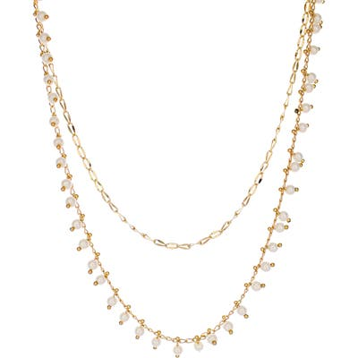Panacea Dainty Double Layer Necklace