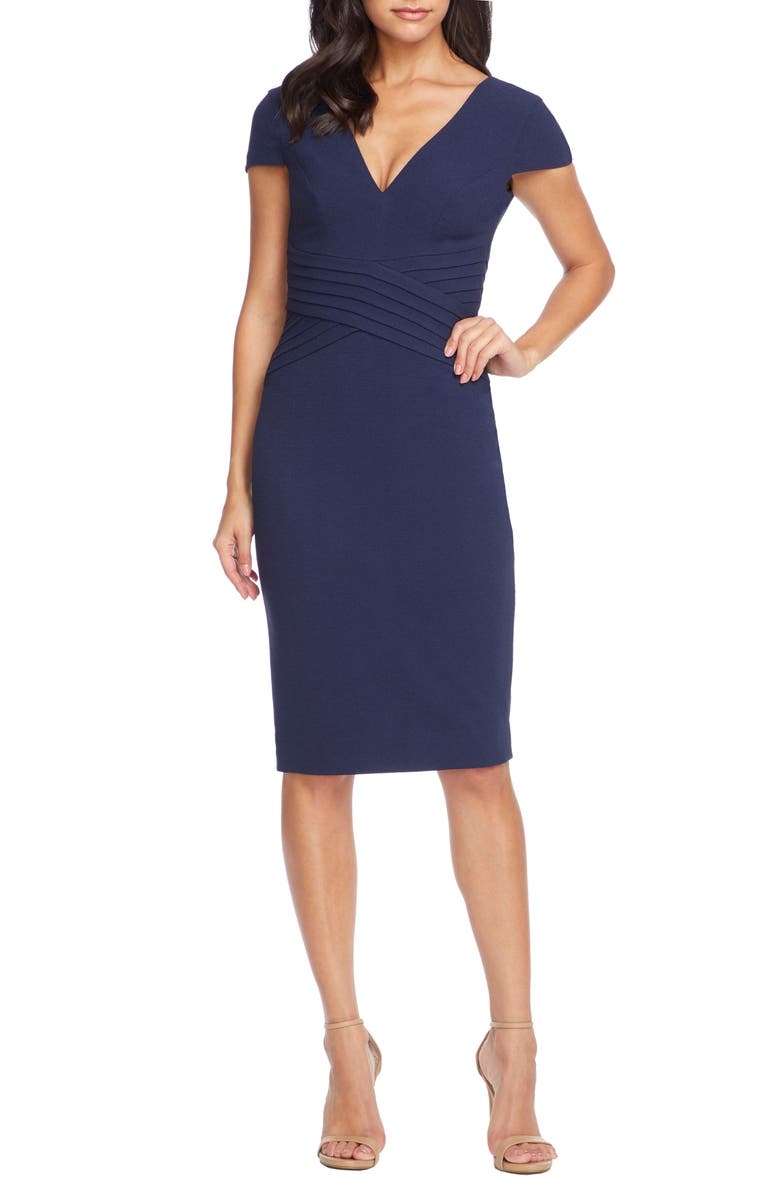 DRESS THE POPULATION Dolores Sheath, Main, color, NAVY
