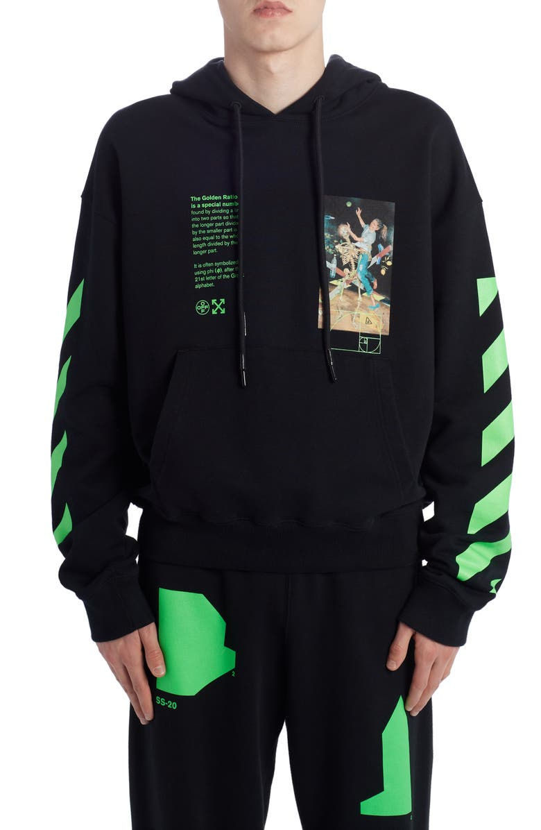 OFF-WHITE Pascal Painting Hoodie, Main, color, BLACK MULTICOLOR