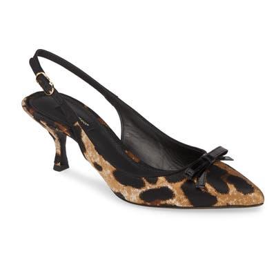Dolce & gabbana Pointed Toe Slingback Sandal, Black