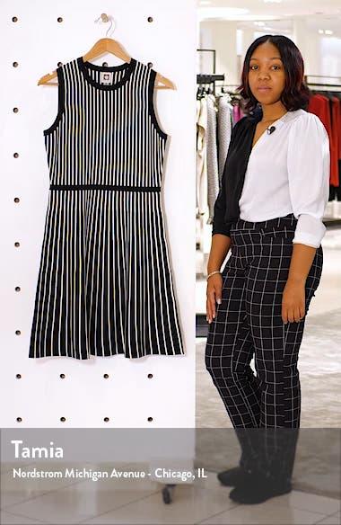 Stripe Fit & Flare Sweater Dress, sales video thumbnail