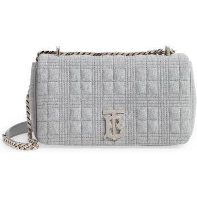 Burberry Small Lola Quilted Shoulder Bag - Grey