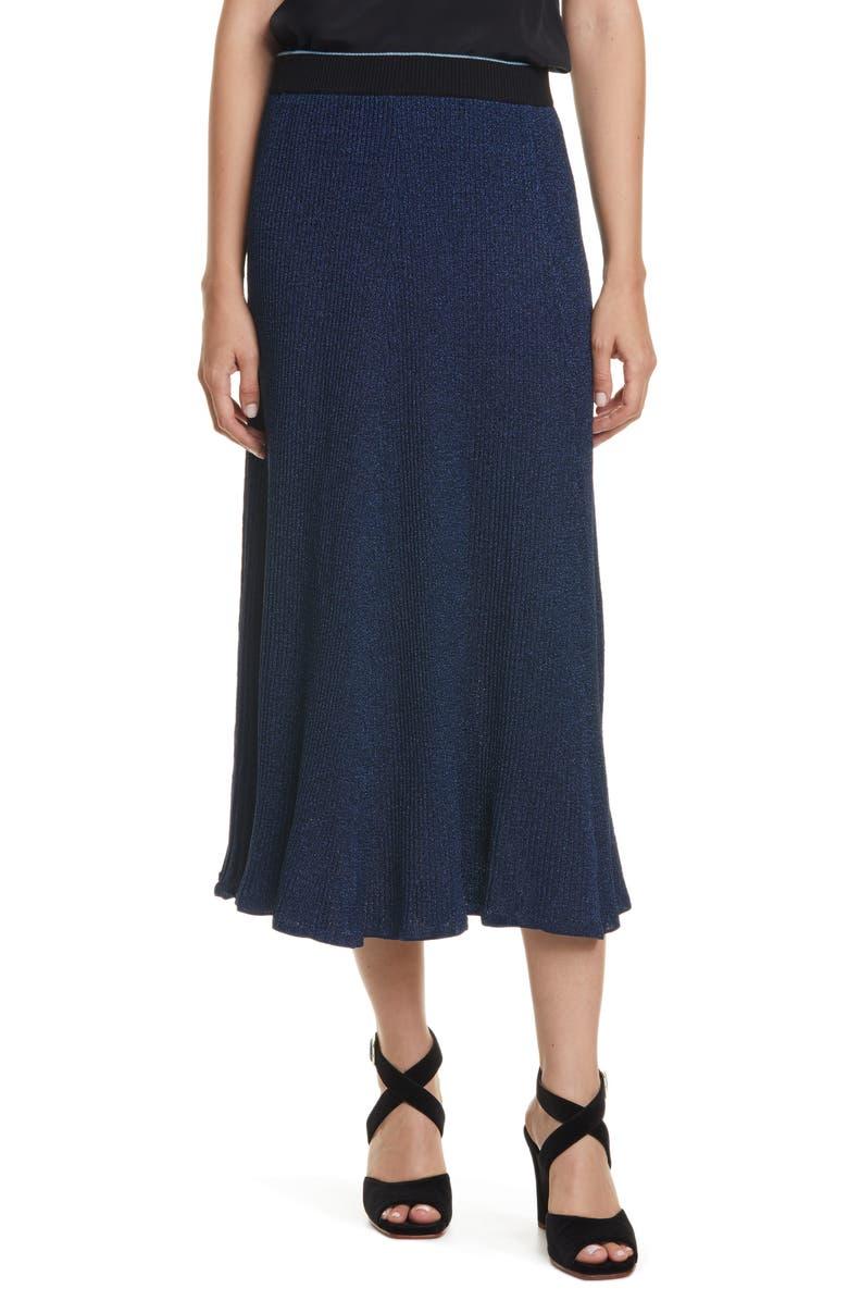 RACHEL COMEY Doss Sweater Knit Skirt, Main, color, BLUE