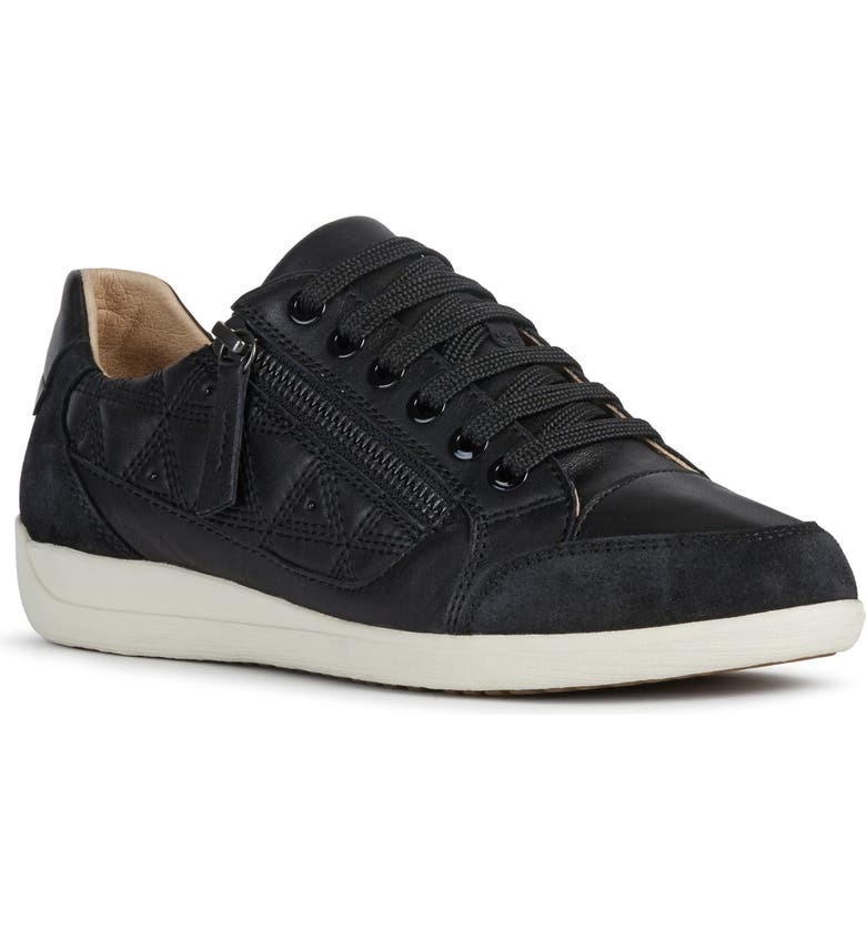 GEOX Myria Sneaker, Main, color, BLACK LEATHER