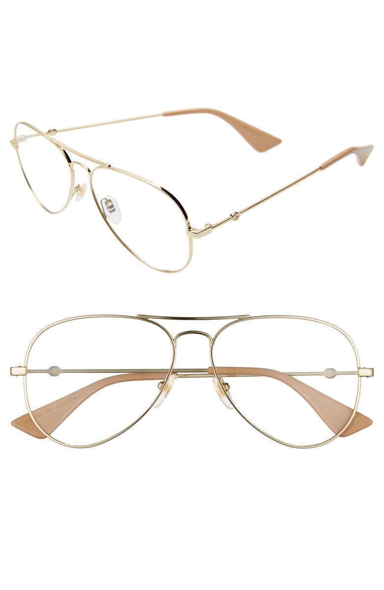 58mm Pilot Optical Glasses by Gucci