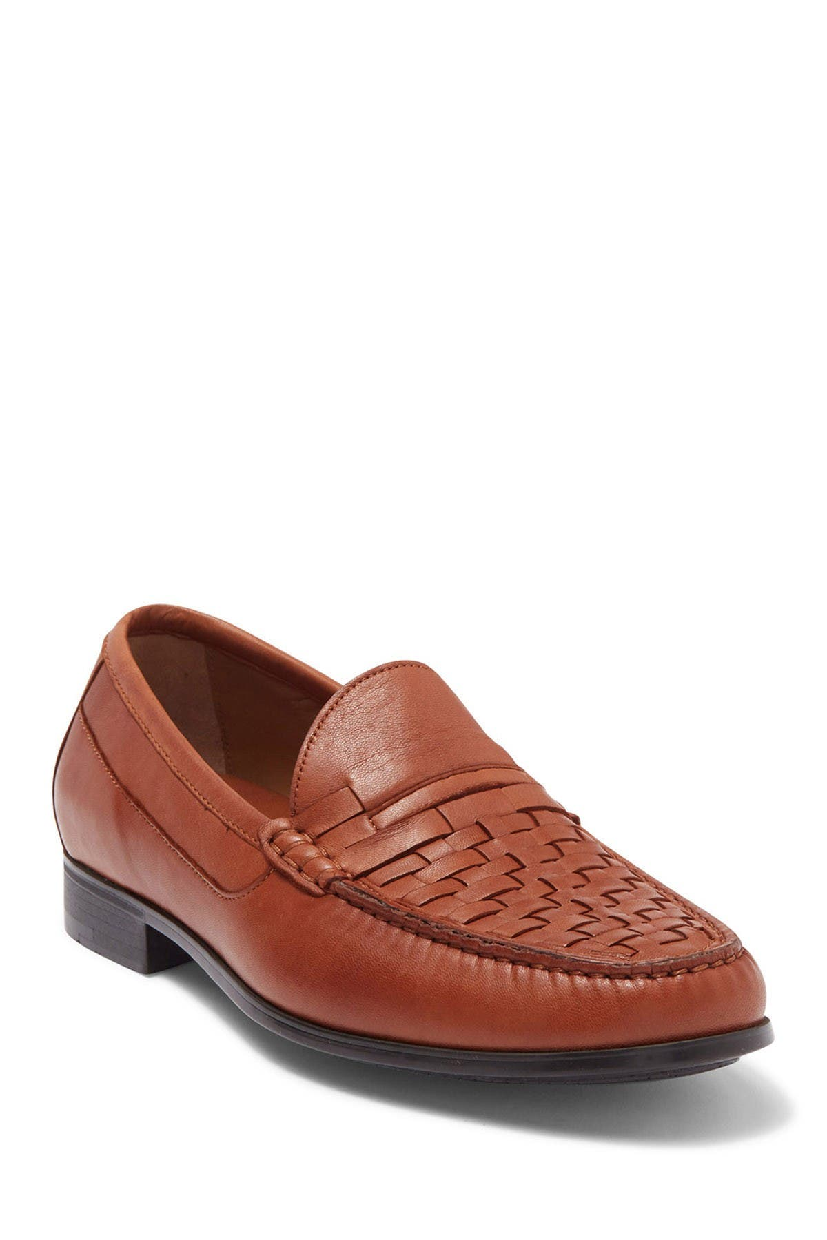 Image of Johnston & Murphy Cresswell Woven Venetian Moc Toe Loafer
