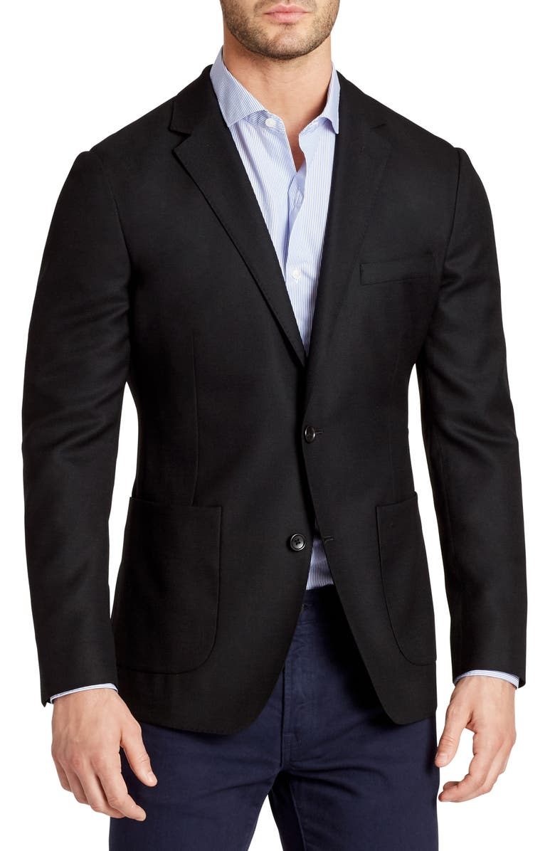 BONOBOS Slim Fit Wool Unconstructed Sport Coat, Main, color, 001